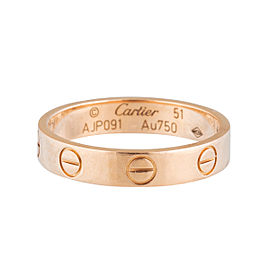 Cartier Rose Gold Mini Love Ring Sz 51