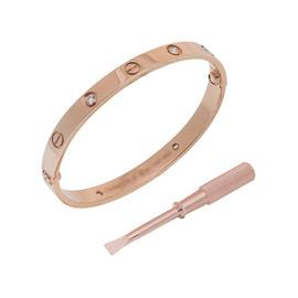 Cartier Love B6040617 Bracelet Rose Gold Full Diamond Size 17