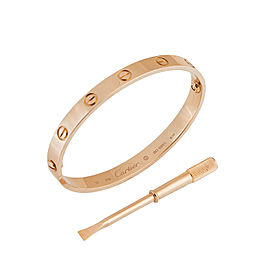 Cartier Love 18k Rose Gold Bracelet 17