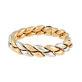 Chimento Reversible 18K Two Tone Gold Hollow Link Bracelet
