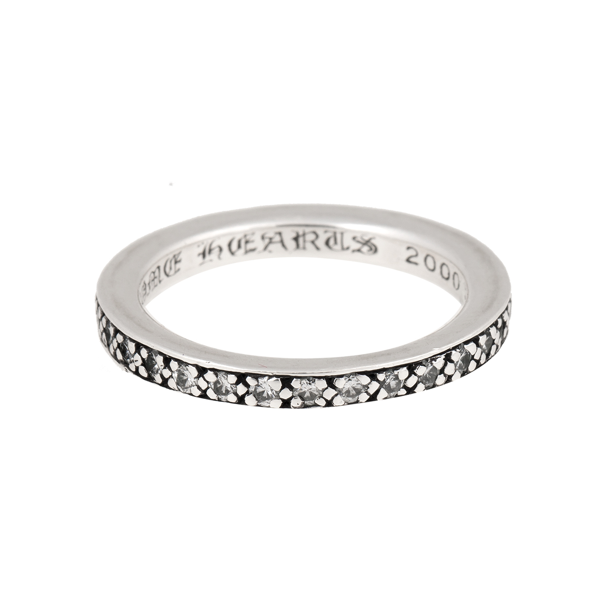 "Image of ""Chrome Hearts 925 Sterling Silver & 1ct Diamond Eternity Band Ring"""