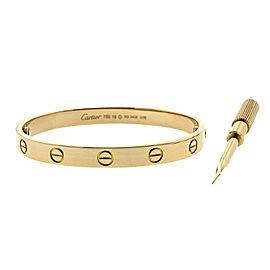 Cartier Love Rose Gold Bracelet Size 16