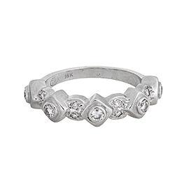 Doris Panos 18k White Gold 0.40ct Diamond Ring Size 7