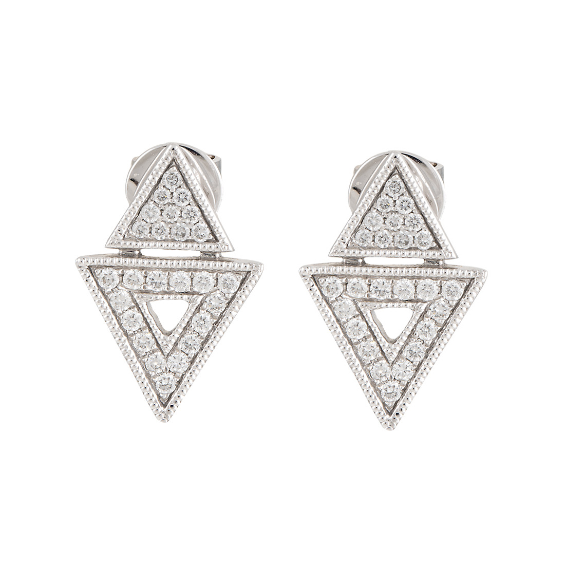 "Image of ""Dana Rebecca 14K White Gold Jemma Morgan 0.26ct. Diamond Stud Earrings"""