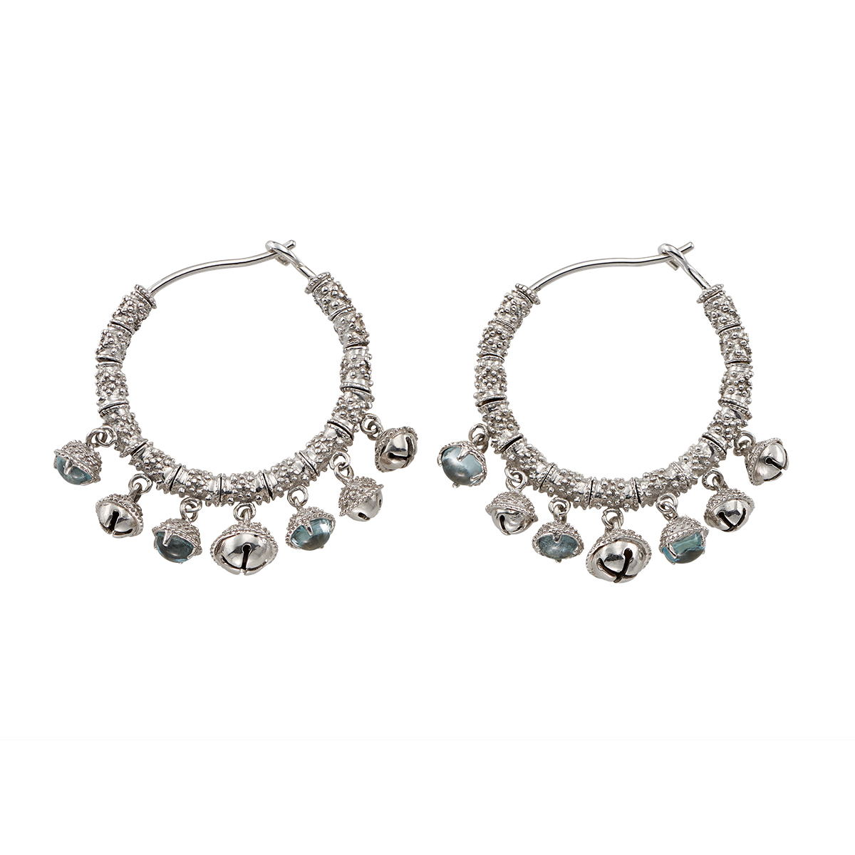 "Image of ""Paul Morelli Ss Gran Bell 25mm Cluster Earrings"""