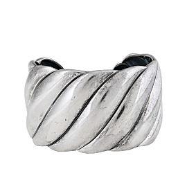 David Yurman Sterling Silver Sculpted Cuff Bracelet