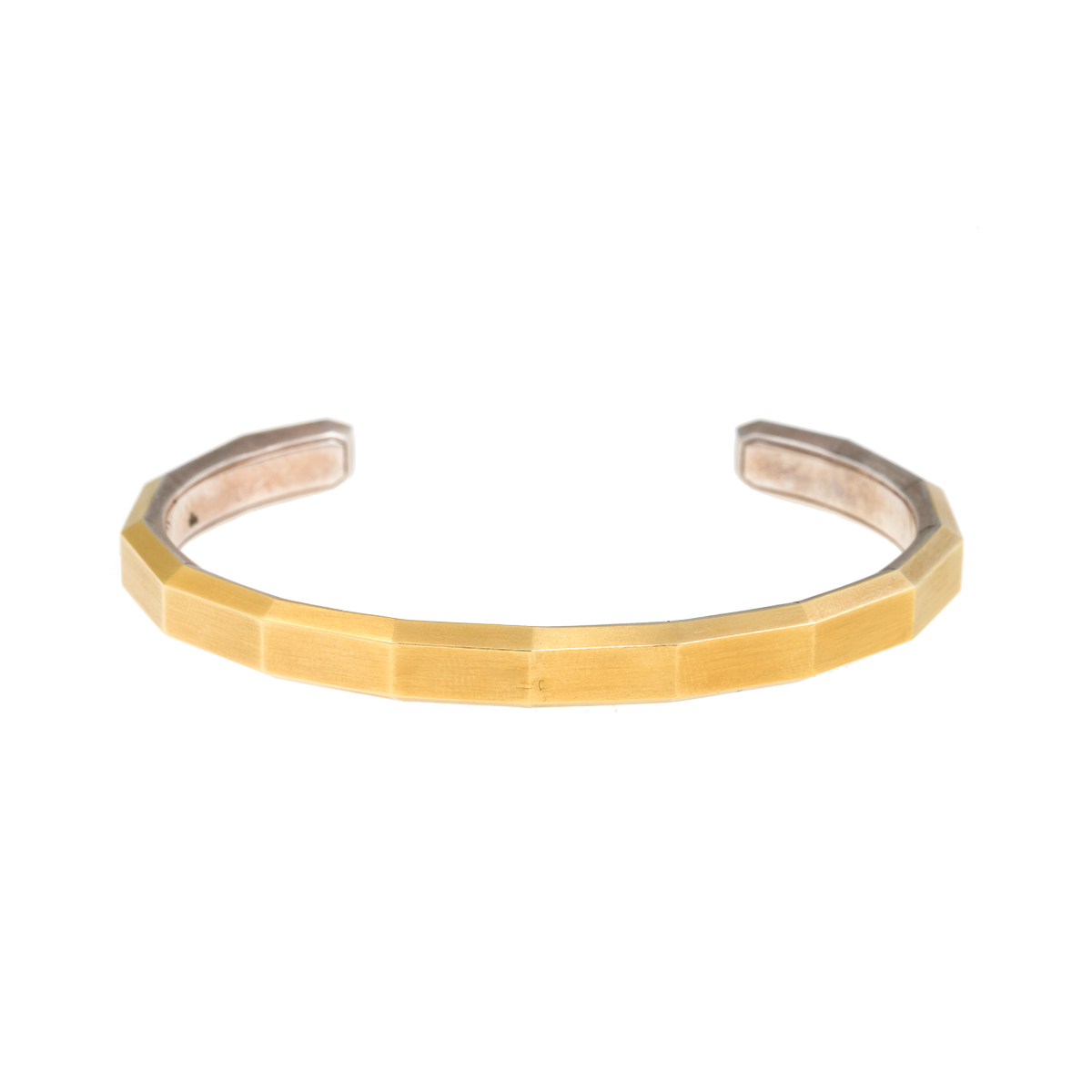 """Image of """"David Yurman 0.925 Sterling Silver and 18K Yellow Gold Faceted Silver"""""""