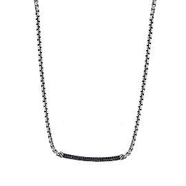David Yurman Petite Pave Metro 0.42ct. Black Diamonds Chain Necklace