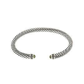 David Yurman Diamond Prasiolite Cable Bracelet