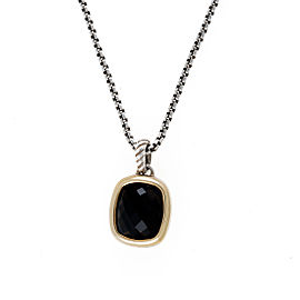 David Yurman Sterling Silver Noblesse Smoky Quartz Necklace
