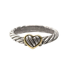 David Yurman Two Tone Cable Heart Ring
