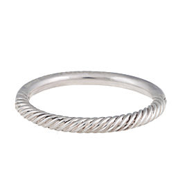 David Yurman Sterling SIlver HInged Bangled Bracelet