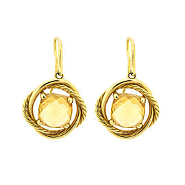 David Yurman Yellow Gold Citrine Dangle Earrings