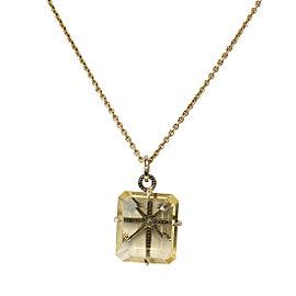 H. Stern Highlight Stars 18K Yellow Gold Citrine Quartz Pendant Necklace