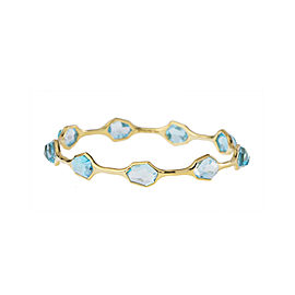 Ippolita 18k Yellow Gold Blue Topaz Bangle