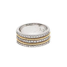 Marco Bicego 18k White and Yellow Gold 3 Row Diamond Ring