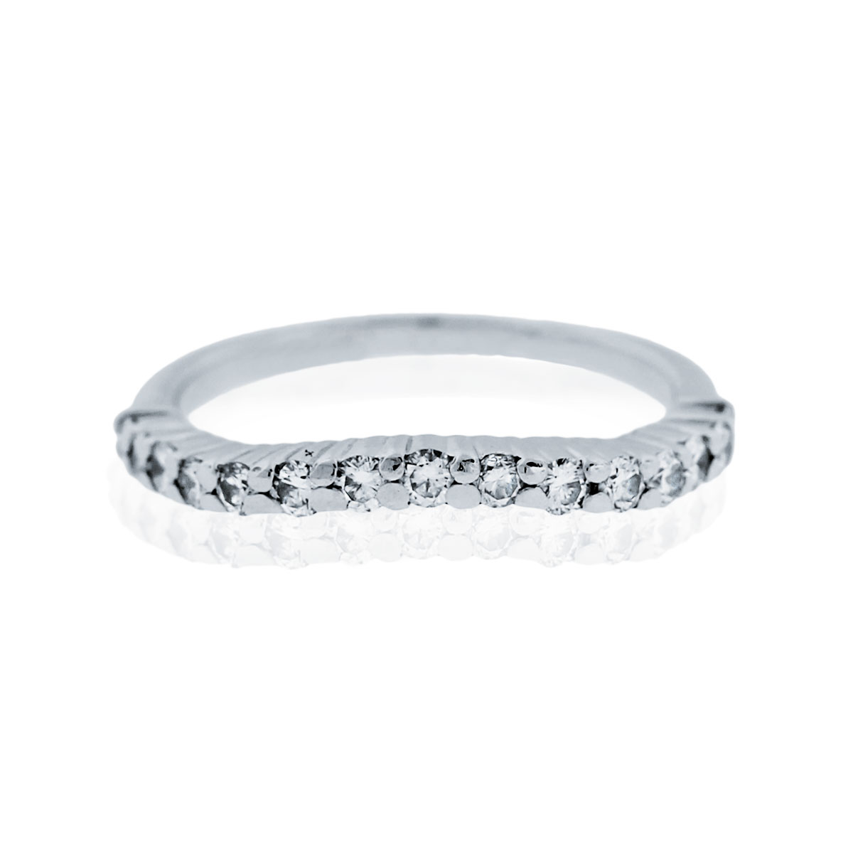 "Image of ""Jose Hess Platinum & 0.74ctw Diamond Wave Ring Size 4.75"""