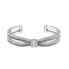 Scott Kay Sterling Silver With 0.08ct. Diamonds Equestrian Cuff Bracelet
