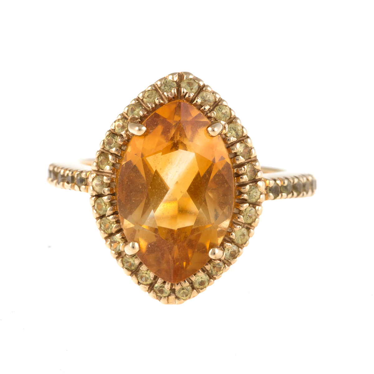 "Image of ""Sonia B 14K Yellow Gold Citrine and Yellow Sapphire Ring Size 6"""