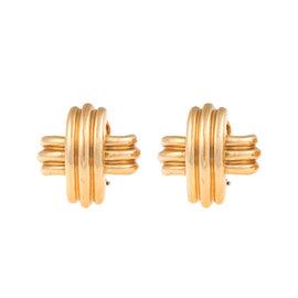 Tiffany & Co. 18K Yellow Gold X Earrings