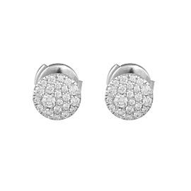 Tifffany & Co. 18K White Gold with 0.37ct Round Diamond Earrings