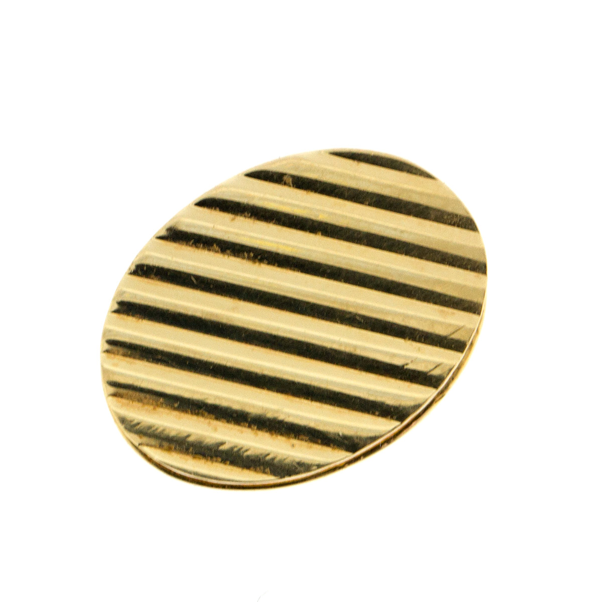 "Image of ""Tiffany & Co. 14k Yellow Gold Round Tie Clip"""
