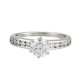 Tiffany & Co. Platinum 1.08ct Diamond Engagement Ring Size 7