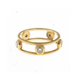 Tiffany & Co. 18k Yellow Gold Double Row 5 Diamond Band
