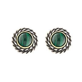 Tiffany & Co. Two Tone Malachite Post Earrings