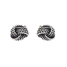 Tiffany & Co. Sterling Silver Love Knot Earrings
