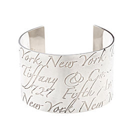 Tiffany & Co. Sterling Silver Notes Wide Cuff Bracelet