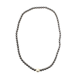Tiffany & Co. Paloma Picasso Hammered Silver Ball Hematite Bead Necklace