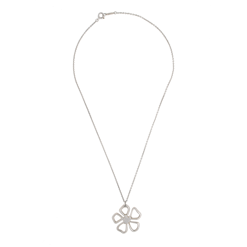 "Image of ""Tiffany & Co. Sterling Silver Daisy Necklace"""