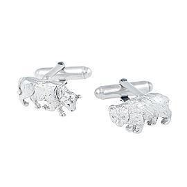 Tiffany & Co. Sterling Silver Bull and Bear Cufflinks