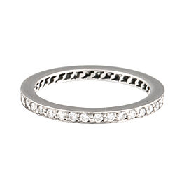 Cartier Platinum Diamond Eternity Band Ring Size 5.25