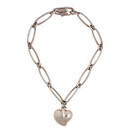 Tiffany & Co. Elsa Peretti Sterling Silver Heart Oval Link Bracelet