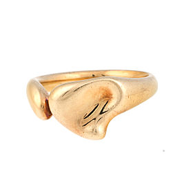 Tiffany & Co. 18K Yellow Gold Full Heart Ring Size 6.75