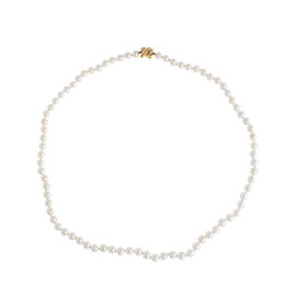 Tiffany & Co. 18K Yellow Gold White Akoya Pearl Signature X Necklace