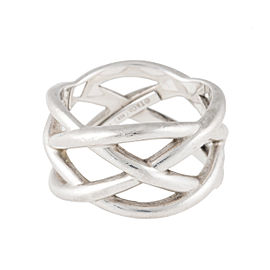 Tiffany & Co. Sterling Silver Weave Ring Size 7