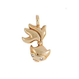 Tiffany & Co. 18K Yellow Gold Fish Charm with 0.02ct. Diamond Pendant