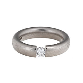 Niessing 18k White Gold Diamond Mens Ring