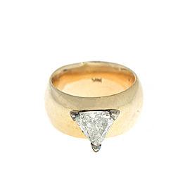 14k Yellow Gold Trillion Cut Diamond Ring