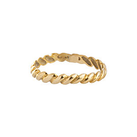 18K Yellow Gold Weave Ring Size 6.25