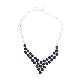 Silver Blue Sapphire Necklace