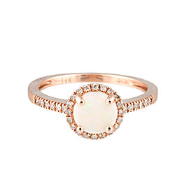 14K Rose Gold and 0.30ct Diamond Ring Size 7