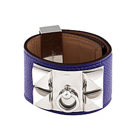 Hermes Purple Collier de Chien Bracelet