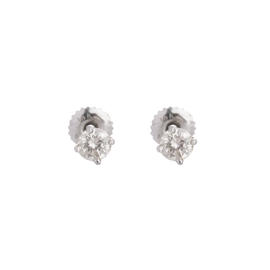 14K White Gold 0.30 Ct Diamond Stud Earrings