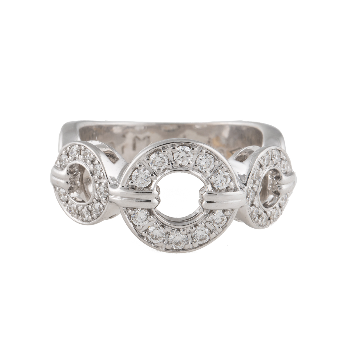 "Image of ""Di Modolo 14K White Gold 3 Buckle 0.4ct. Diamond Ring Size 6"""