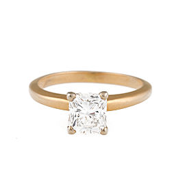 14K Yellow Gold Princess Cut 1.19ct. Diamond Solitaire Ring Size 5.25