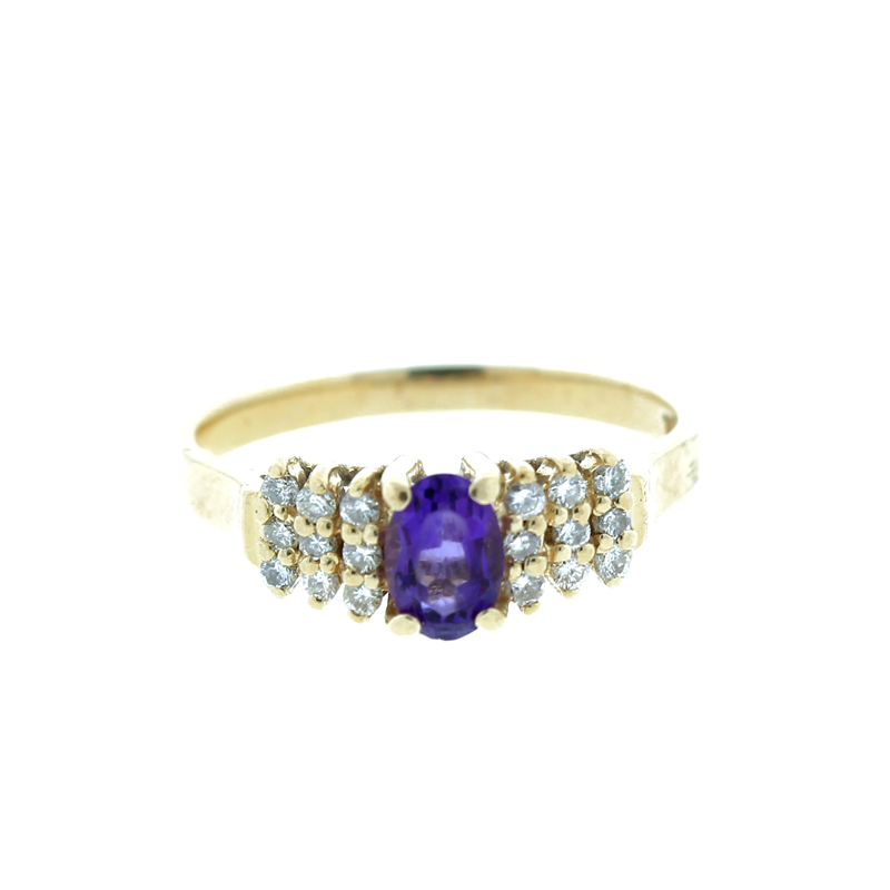 "Image of ""Small Oval Shaped Amethyst Ring"""